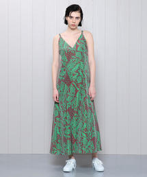 <H>AFRICAN PRINT DRESS/ワンピース