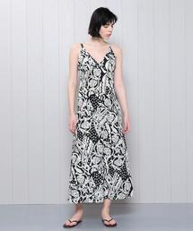 <H>AFRICAN PRINT DRESS/ワンピース о