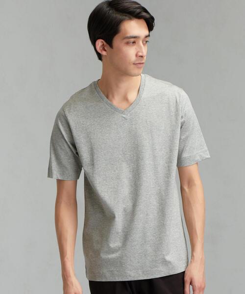 CM オーガニック クリア Vネック SS Tシャツ
