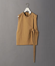 <6(ROKU)>PIPING LEATHER NO SLEEVE SHIRT/シャツ