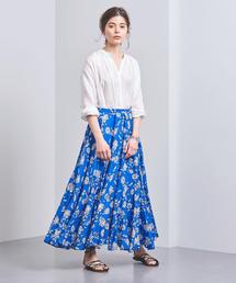 <MARIHA(マリハ)>フラワー柄 ギャザースカート■■■