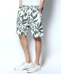 Back Channel | LEAF LINEN SHORTS(パンツ)