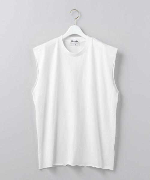 <Upcycle>NO SLEEVE T-SHIRT UNISEX SIZE/Tシャツ Ψ