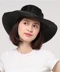【数量限定】インポート ストローハット 麦わら帽子 ブラック レディース L [REINHARD PLANK(レナードプランク)](ハット)