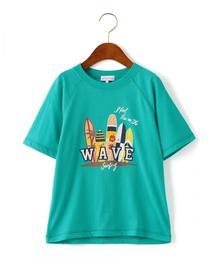 〔吸水速乾〕サーフプリントTシャツ ショートスリーブ ◆