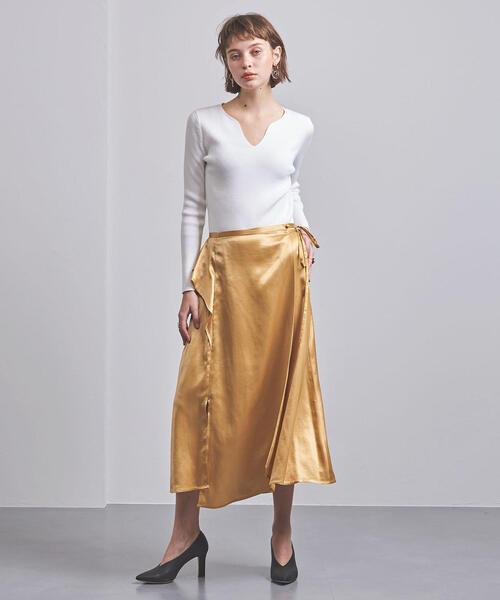 <ELIN(エリン)>サテン ラップスカート