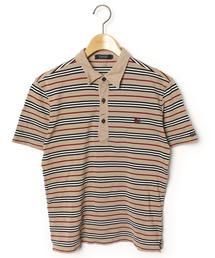 5c4a0481adde0 BURBERRY BLACK LABEL(バーバリーブラックレーベル)の古着「ボーダー柄半袖ポロシャツ(