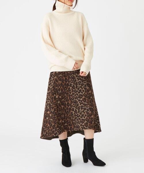 SMF レオパードフレアシャギースカート