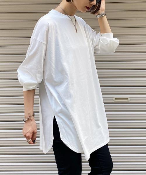 PAGEBOY(ページボーイ)の「BASICロンT(Tシャツ/カットソー)」|オフホワイト