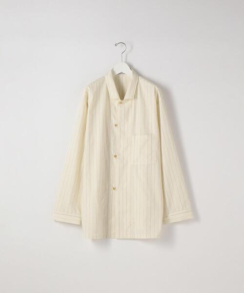 <THE HINOKI> STRIPE PAJAMA SHIRT/シャツ
