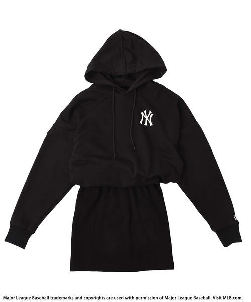 【MLB】裏毛タイトロゴワンピース