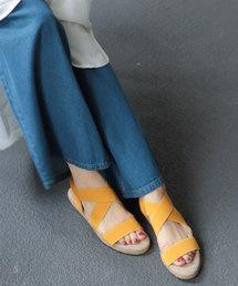 SESTO(セスト)のゴムでフィットするので靴ズレしにくい3.5cmヒールゴムフィットサンダル※(サンダル)