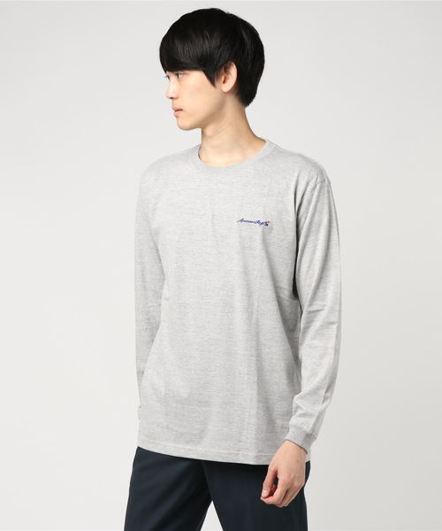 AMERICAN RAG CIE ARC Script Logo Embroidery Longsleeve T Shirt/アメリカンラグシー ARCスクリプトロゴエンブロイダリーロンT