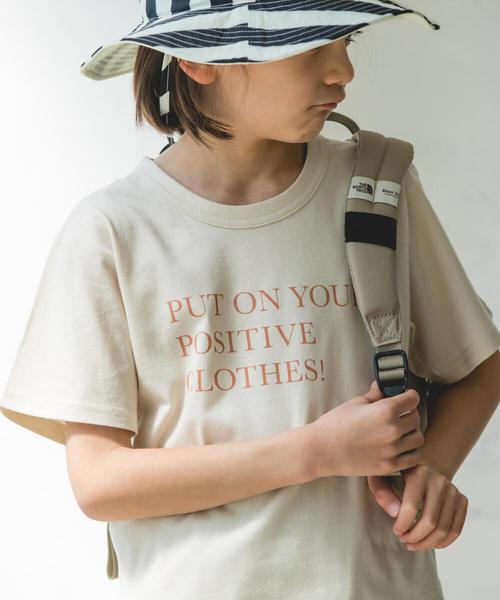 pairmanon(ペアマノン)の「プリント半袖ロゴTシャツ(Tシャツ/カットソー)」|ベージュ系その他