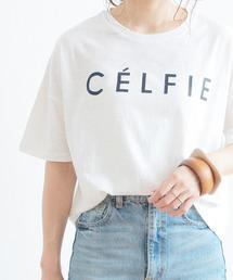 "reca(レカ)の半袖ロゴTシャツ ""CELFIE""(Tシャツ/カットソー)"