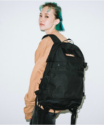 X-girl(エックスガール)のLEOPARD BOX LOGO ADVENTURE BACKPACK(バックパック/リュック)