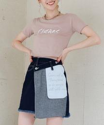 【ぴとさん着用】ロゴプリントちびTシャツベージュ