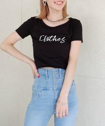【ぴとさん着用】ロゴプリントちびTシャツブラック