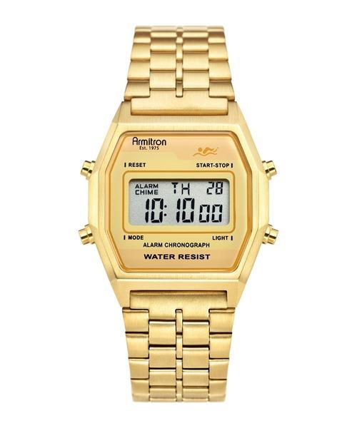 ARMITRON NEWYORK(アーミトロンニューヨーク)の「ARMITRON 腕時計 デジタルウォッチ 80's レトロシリーズ(アナログ腕時計)」 ゴールド