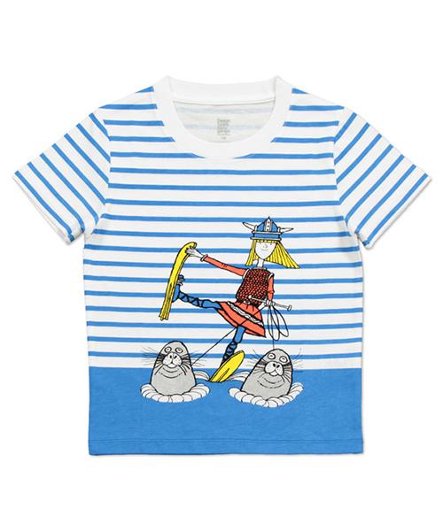 コラボレーションキッズTシャツ/エーヴェットカールソン(ウォータースキー)