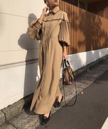 AMERI(アメリ)のPLEATS BELT LAYERED DRESS(ワンピース)