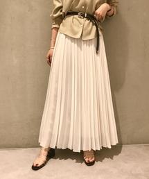 ROPE' mademoiselle(ロペマドモアゼル)のプリーツロングスカート(スカート)