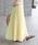 ROPE' mademoiselle(ロペマドモアゼル)の「【ドラマ着用】プリーツロングスカート(スカート)」 イエロー