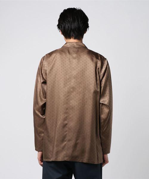 【AND SQUARE】モノグラム柄オープンカラーシャツ