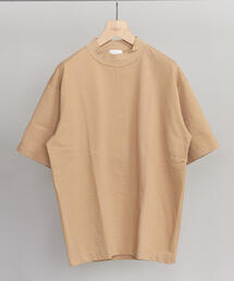 BY クリスピーコットン 樽型 モックネック Tシャツ -MADE IN JAPAN-