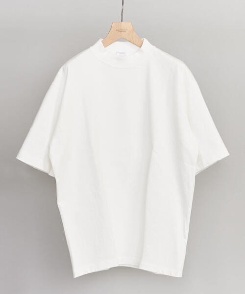 BY クリスピーコットン 樽型 モックネック Tシャツ -MADE IN JAPAN- ◆