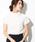 ViS(ビス)の「【前後2WAY】レース切替半袖ブラウス(シャツ/ブラウス)」|ホワイト
