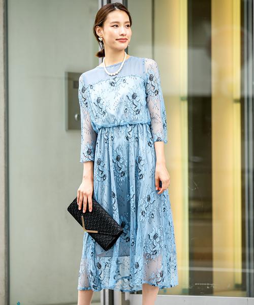 柔らかい 花柄レースの切り替えワンピースドレス / 結婚式ワンピース・お呼ばれパーティードレス(ドレス)|kana(カナ)のファッション通販, 薩摩菓子処とらや:a3db8cac --- crisis.innorec.de