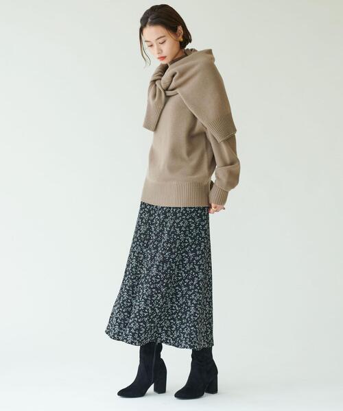SMFICP  小花マーメイドスカート