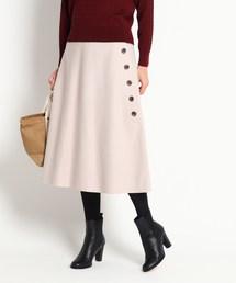 Dessin(デッサン)のサイドボタンメルトンAラインスカート(スカート)