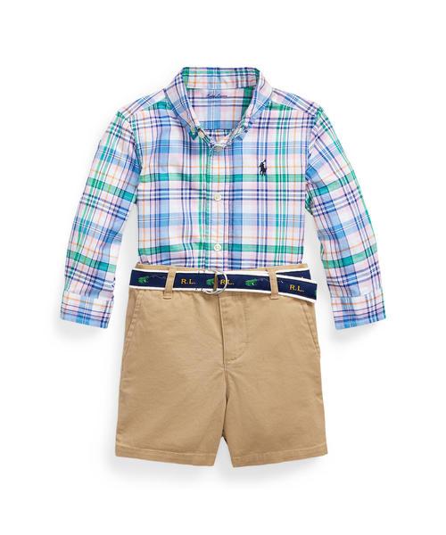 格安新品  プラッド シャツ、ベルト、ショートパンツ RALPH セット(ベビーギフト)|Polo LAUREN Ralph Lauren Baby,ベビー,POLO Childrenswear(ポロラルフローレンチャイルドウェア)のファッション通販, はっぴータイル:9800da7f --- pitomnik-zr.ru