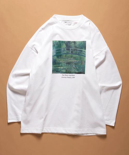 ART×EMMA CLOTHES別注 アート転写プリントシルケットライク天竺ビックシルエット L/Sカットソー グラフィック カットソー
