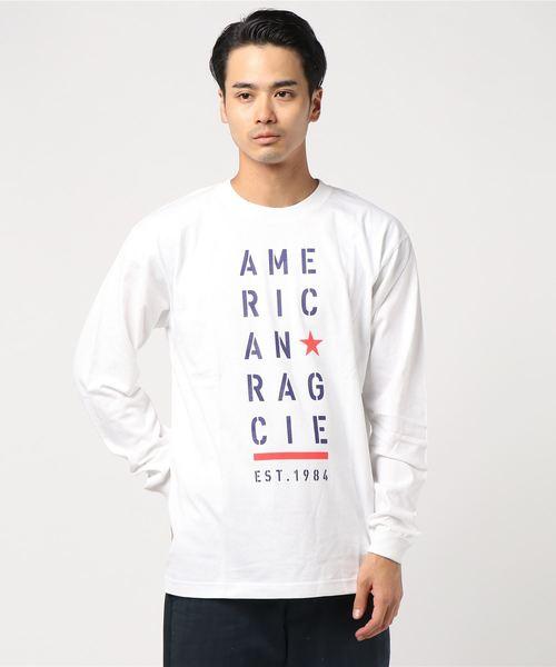 AMERICAN RAG CIE ARC Stencil Logo Print Longsleeve T Shirt/アメリカンラグシー ARCステンシルロゴプリントロンT