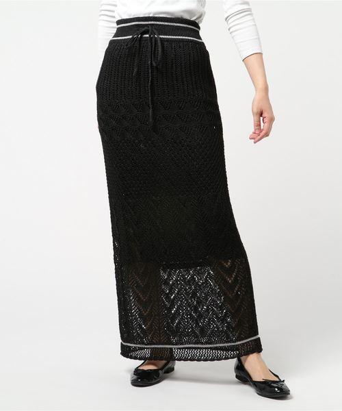 【半額】 【セール】オープンワークニットロングスカート(スカート)|NINE(ナイン)のファッション通販, GEKIROCK CLOTHING:09642e30 --- fahrservice-fischer.de