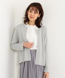 <closet story>□ダブルカフス ニットジャケット -手洗い可能-