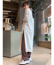 koe(コエ)の裾釦カットスリットワンピース(ワンピース)