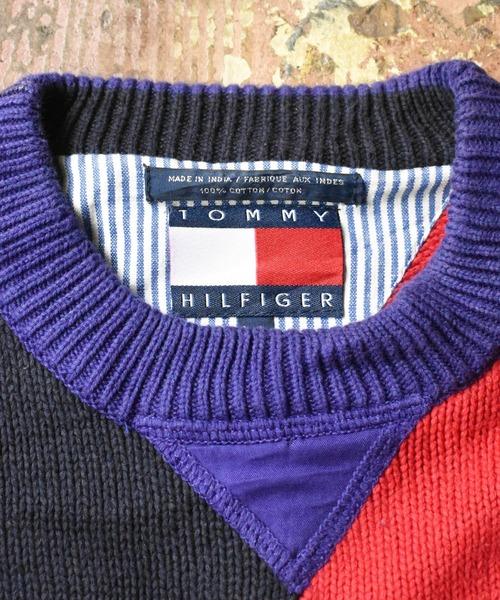 TOMMY HILFIGER(トミーヒルフィガー)の「【ヴィンテージ古着】90's TOMMY HILFIGER/トミーヒルフィガー コットンニット(ニット/セーター)」|詳細画像