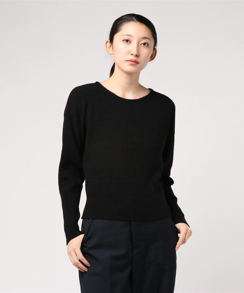 COLOR COMPACT KNIT TOP