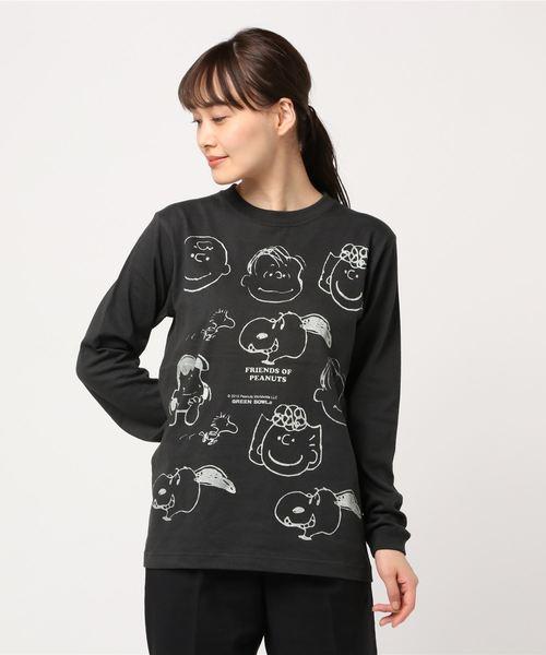 SNOOPY×OLD BETTY'S(スヌーピーカケルオールドベティーズ)の「SNOOPY Long Sleeve T-shirts/スヌーピー ロング Tシャツ ロンT(Tシャツ/カットソー)」 その他10