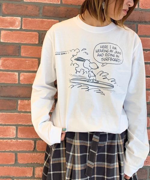 SNOOPY×OLD BETTY'S(スヌーピーカケルオールドベティーズ)の「SNOOPY Long Sleeve T-shirts/スヌーピー ロング Tシャツ ロンT(Tシャツ/カットソー)」|その他8