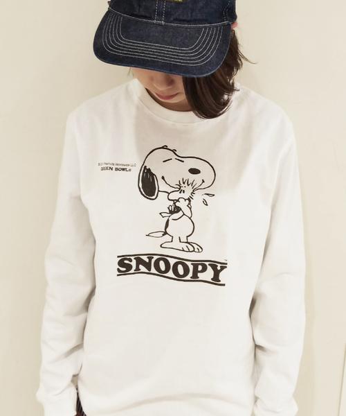 SNOOPY×OLD BETTY'S(スヌーピーカケルオールドベティーズ)の「SNOOPY Long Sleeve T-shirts/スヌーピー ロング Tシャツ ロンT(Tシャツ/カットソー)」 その他
