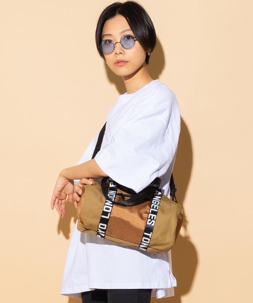 【 CONNA DESIGN / コンナデザイン 】ロゴテープ2WAYミニロールボストンバッグ