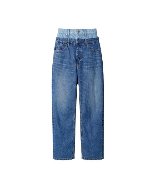 人気カラーの 【セール】Double Waist Waist CIEL Denim Pants(デニムパンツ) Denim LE CIEL BLEU(ルシェルブルー)のファッション通販, 製茶問屋 静岡茶園:d5e19cd3 --- kredo24.ru