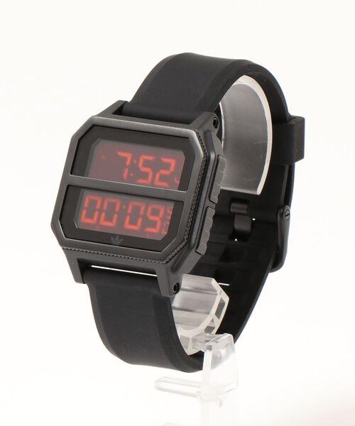 adidas(アディダス)の「【adidas/アディダス】 ARCHIVE R2(デジタル腕時計)」 ブラック