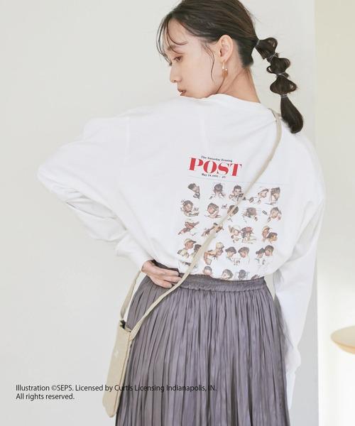 ViS(ビス)の「【THE SATURDAY EVENING POST】アソートロングTシャツ(Tシャツ/カットソー)」 ホワイト系その他
