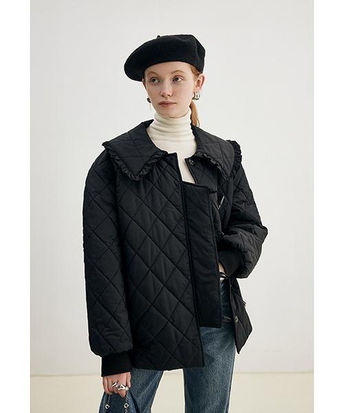 【Fano Studios】【2021AW】Doll collar quilting short coat FD21M010